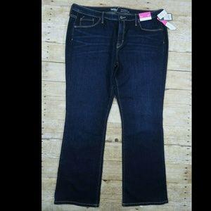 Mossimo Super Stretchy Curvy Bootcut Denim Jeans D